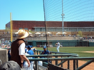 Usher Looks In Dugout ST 2010