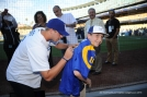 Jared Goff signs for fan prior to game against the Colorado Rockies Monday, June 6, 2016 at Dodger Stadium in Los Angeles,California. Photo by Jon SooHoo/© Los Angeles Dodgers,LLC 2016