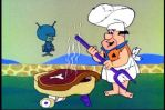 gazoo cooks steak