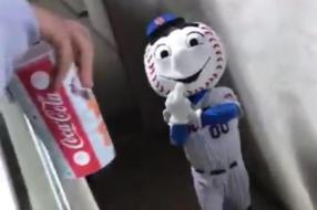 mr met in mascot's entrance