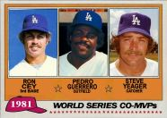 1981 Topps Cey Guerrero Yeager